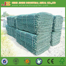 CE cetificate 1x1x2m pvc coated gabion mesh for reiver block