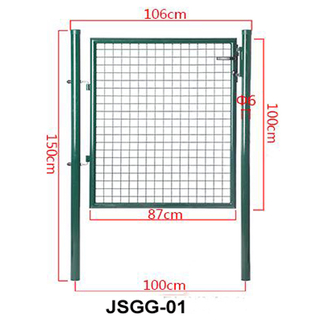 100x100cm Welded Wire Mesh and Round Post Frame with Lock Green Decoration Euro Garden Gate